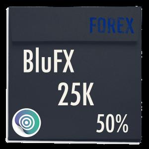 funded-trader BluFX evaluation funding program trading 25K 50pc