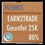 funded-trader Earn2Trade evaluation funding program trading gauntlet 25K 80pc copy