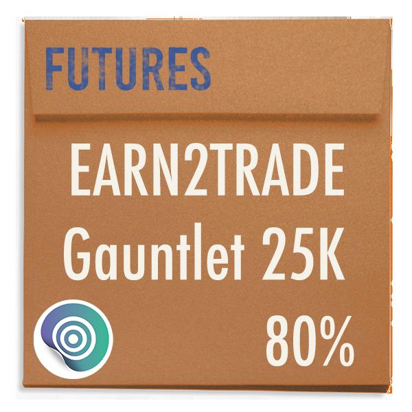 funded-trader Earn2Trade evaluation funding program trading gauntlet 25K 80pc