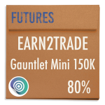 funded-trader Earn2Trade evaluation funding program trading gauntlet mini 150K 80pc copy