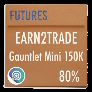 funded-trader Earn2Trade evaluation funding program trading gauntlet mini 150K 80pc