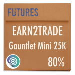 funded-trader Earn2Trade evaluation funding program trading gauntlet mini 25K 80pc copy