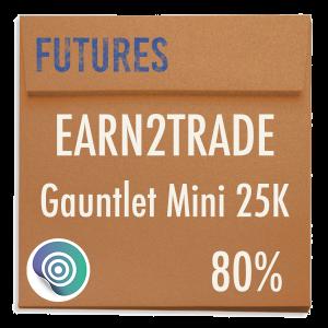 funded-trader Earn2Trade evaluation funding program trading gauntlet mini 25K 80pc