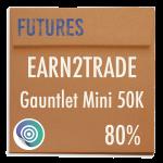 funded-trader Earn2Trade evaluation funding program trading gauntlet mini 50K 80pc