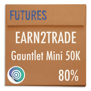 funded-trader Earn2Trade evaluation funding program trading gauntlet mini 50K 80pc