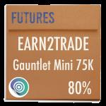 funded-trader Earn2Trade evaluation funding program trading gauntlet mini 75K 80pc