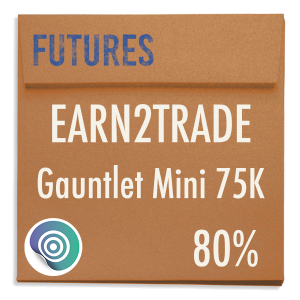 funded-trader Earn2Trade evaluation funding program trading gauntlet mini 75K 80pc