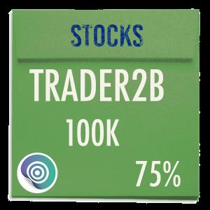 funded-trader TRADER2B evaluation funding program trading stocks 100K 75pc copy