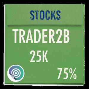funded-trader TRADER2B evaluation funding program trading stocks 25K 75pc copy