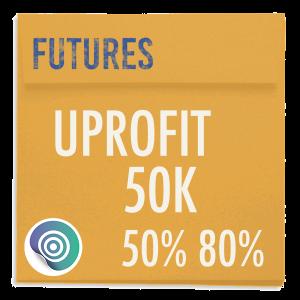 funded-trader UPROFIT evaluation funding program trading futures 50K 50pc 80pc